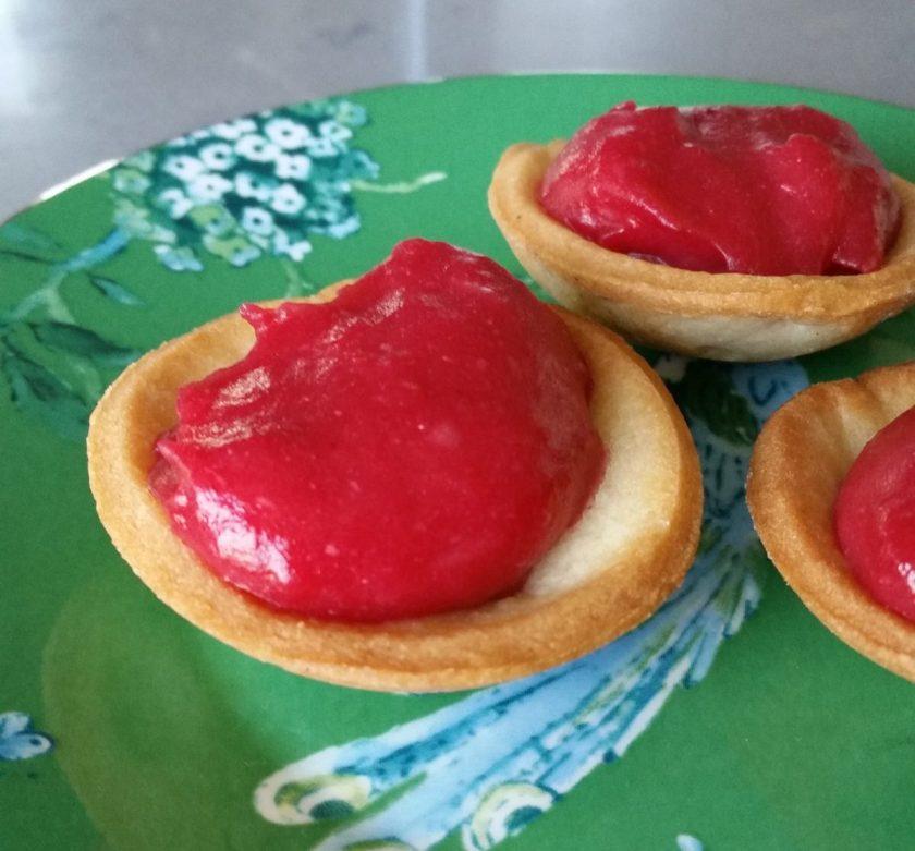 Cranberry Curd Tarts
